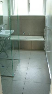 Contemporary bathroom renovation Whangarei including tiled walk in shower.