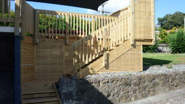 decking and privacy screening