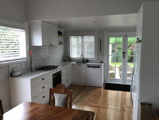 new kitchen and wooden floors